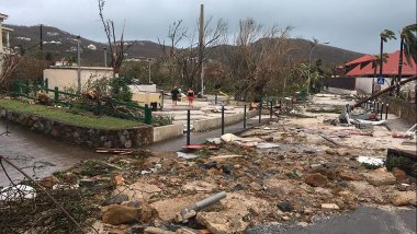 Gustavia (Saint-Barthélemy) après le passage de l'ouragan Irma / © AFP PHOTO / FACEBOOK/KEVIN BARRALLON