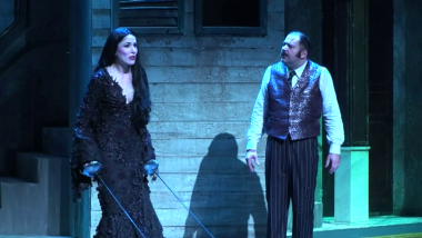 "Un version du spectacle ""La Famille Addams"", au Palace. / © France 3 Paris IDF"
