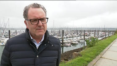 Richard Ferrand interviewé à Brest le 8 octobre 2017 / © France 3 Bretagne