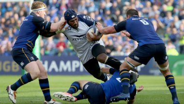 Le MHR s'est incliné face au Leinster 24 -12 sur la pelouse du stade de Dublin le samedi 14 octobre / © AFP / Paul FAITH