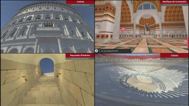 Captures de l'application Roma in Tabula / © Cireve