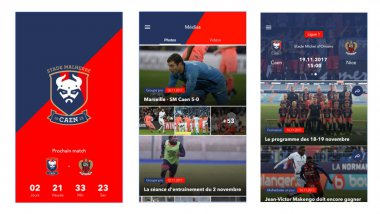 Le SM Caen a sorti ce vendredi soir son application / © Google Play