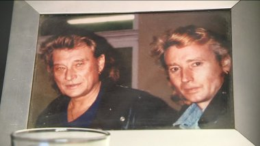 Johnny Halliday et son sosie Johnny Rock
