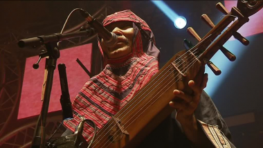 Oki, chanteur du groupe Oki Du Ainu Band / © France 3 Bretagne
