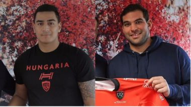 Rudy Gahetau (à gauche) et Florian Fresia (à droite) ont prolongé leur contrat au RCT. / © RCT