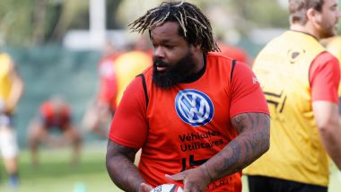 Coupable d'insultes envers un joueur adverse, le centre du RCToulon, Mathieu Bastareaud, risque gros. / © MaxPPP