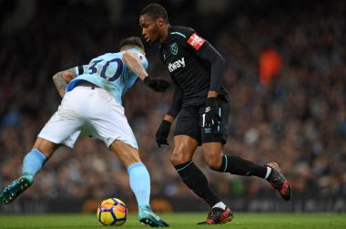 Diafra Sakho sous les couleurs de West Ham United / © PAUL ELLIS / AFP