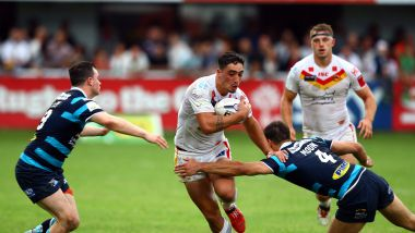 L'arrière des Dragons Catalans, Tony Gigot face aux Leeds Rhinos en septembre 2015 / © MAXPPP / PHOTO PQR