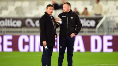 Laurent Marti et Rory Teague lors du match face à Toulouse. / © AFP