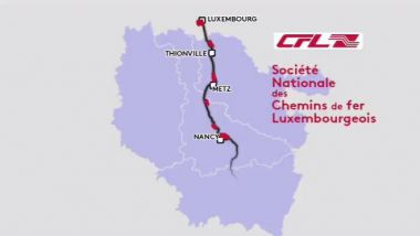 TER : cartographie ligne Nancy-Metz-Luxembourg / © Infographie : France 3 Lorraine