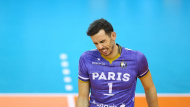 Le capitaine du Paris Volley, Nuno Pinheiro. / © MAXPPP/Anthony Massardi