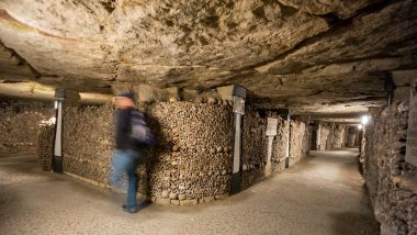 Les Catacombes de Paris. / © picture alliance / Peter Kneffel/Newscom/MaxPPP