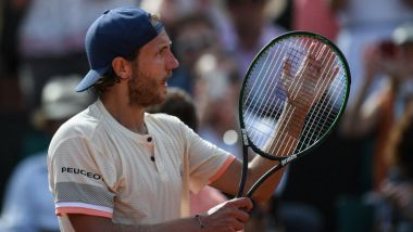 Lucas Pouille a remporté son premier match en 3 sets. / © AFP