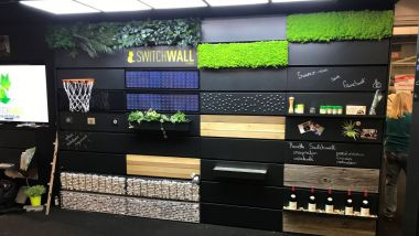 Switchwall est un habillage mural modulable. / © Switchwall
