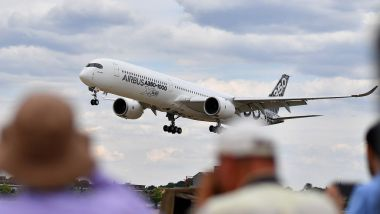 Le décollage d'un Airbus A 330-900 Néo au salon de Farnborough / © AFP