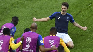 La joie de Pavard après son but face à l'Argentine / © SAEED KHAN / AFP