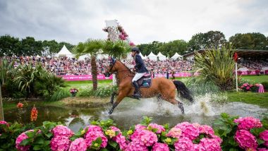 Le gué du Derby Tropicana au Jumping International de Dinard / © E.Knoll