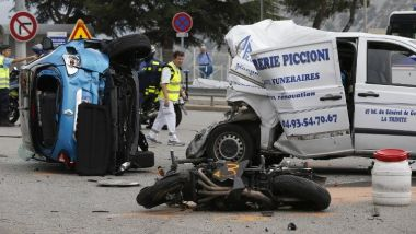 Accident de la route à La Turbie, en septembre 2015 / © VALERY HACHE / AFP