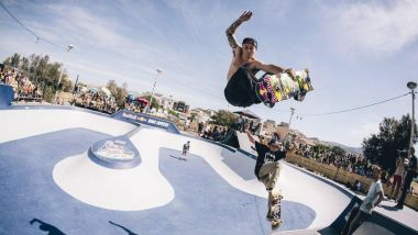 Chris Russel en action au Bowl Rippers / © TEDDY MORELLEC/RED BULL CONTENT POOL