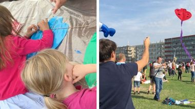 Septembre 2018-Dieppe : activités du pôle enfance-jeunesse du festival international de cerf-volant / © Photo : Richard PLUMET / France 3 Normandie