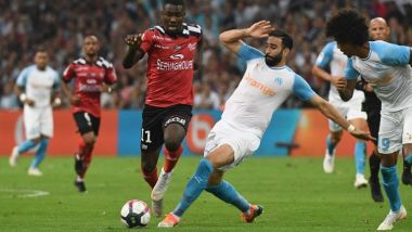 Adil Rami lors du match de L1 contre Guingamp (16 septembre 2018) / © Photo Boris Horvat/AFP