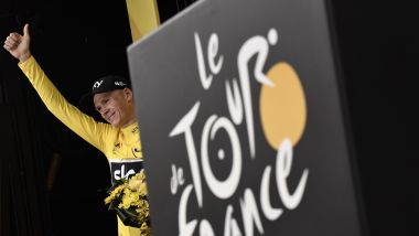 Chris Froome, vainqueur du Tour de France 2017 / © Jeff PACHOUD / AFP