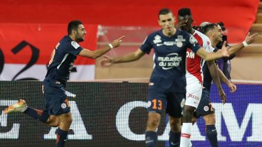 Montpellier a battu l'AS Monaco 2-1 et pointe à la 2e place du classement de ligue 1. / © Valery Hache AFP