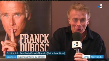 Franck Dubosc donnait son spectacle Fifty Fifty à Rouen mercredi 16 janvier 2019. / © France 3 Normandie