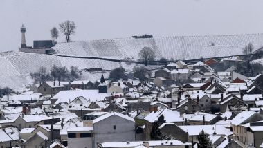 Le village de Verzenay (Marne) sous la neige, en mars 2018 (photo d'illustration). / © François Nascimbeni / AFP