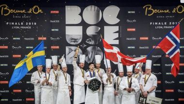 Le podium du Bocuse d'Or. / © Sirha