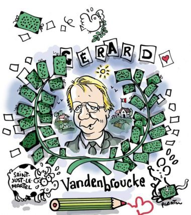 Le dessinateur Plantu a rendu hommage à Gérard Vandenbroucke via le compte twitter Cartooning for peace / © Plantu / @cartooning for peace