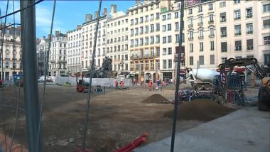 Lyon, la place des Terreaux en chantier / © France 3 RA