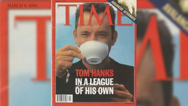Tom Hanks à la couverture du Time magazine du 8 mars 1999. Photo de couverture ©Nigel Parry CPI/Katz