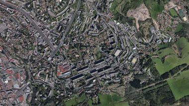 Le campus universitaire de Saint-Étienne. / © Google Earth