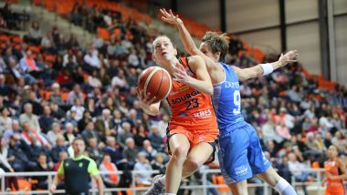 (09 01 2019). Marine Johannès du TANGO BOURGES BASKET / © Olivier MARTIN - max ppp