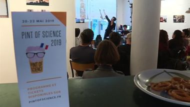 Le festival de vulgarisation scientifique Pint of science a lieu dans 7 bars de Montpellier - 20/05/2019. / © F3 LR