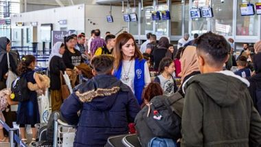 Plus de 130 membres de la communauté yézidie ont quitté l'aéroport international d'Erbil pour Toulouse / © IOM Press