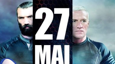 Les capitaines Sébastien Chabal et Didier Deschamps