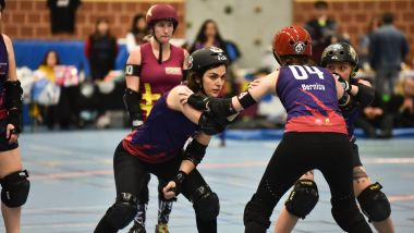 Le championnat de roller derby à Strasbourg en 2018. / © Document remis, Hell's Ass Roller Derby