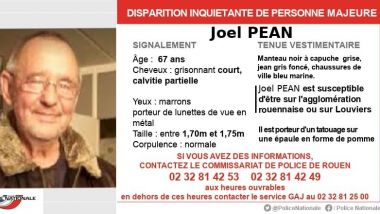Disparition de Joel Pean / © Police Nationale