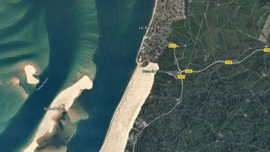 Le dune du Pilat. Photo d'illustration. / © Google maps