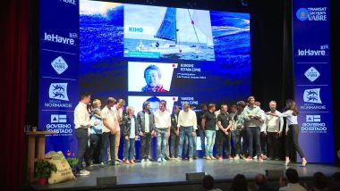 Paris le 17 septembre 2019 : présentation de la Transat Jacques Vabre / © France 3 Normandie / Image extraite de la video du JRI Anne-Laure Meyrignac