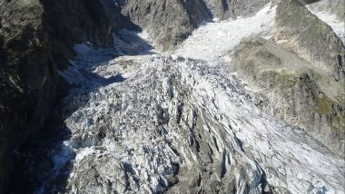 Vue du glacier Planpincieux du Val d'Aoste (nord-ouest de l'Italie), qui menace de s'effondrer / © AFP PHOTO /COURMAYOR PRESS OFFICE