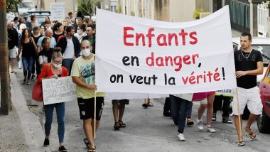 Conques-sur-Orbiel (Aude) - manifestation contre la pollution des sols à l'arsenic - septembre 2019. / © maxppp BOYER Claude