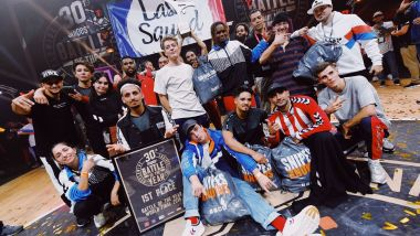 Le crew Last Squad de Bordeaux représentait la France dans la finale de la 30e Battle of the year à Montpellier le 26 octobre 2019 / © BOTY