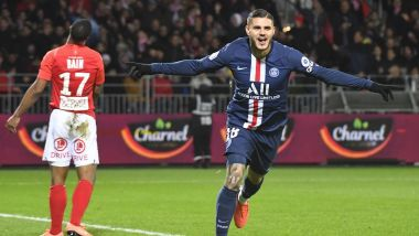 Le but salvateur de l'attaquant du PSG Mauro Icardi - / © Damien Meyer / AFP