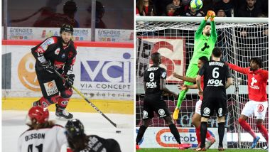 Un week-end marqué par deux défaites à Amiens, en hockey face à Anglet vendredi, et en Ligue 1 contre Brest le lendemain. / © LE COURRIER PICARD/Dominique Touchart ; LE TELEGRAMME/NICOLAS CREACH