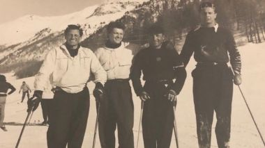 Jean Marais au ski à Megève, en 1960. / © Collection Privée