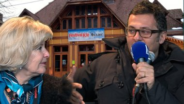 La productrice Nelly Kafsky et le journaliste David Abiker / © France 3