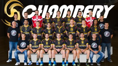 La photo officielle de l'équipe de handball de Chambéry, version 2012/2013. / © Fabrice Rumillat/ CSH